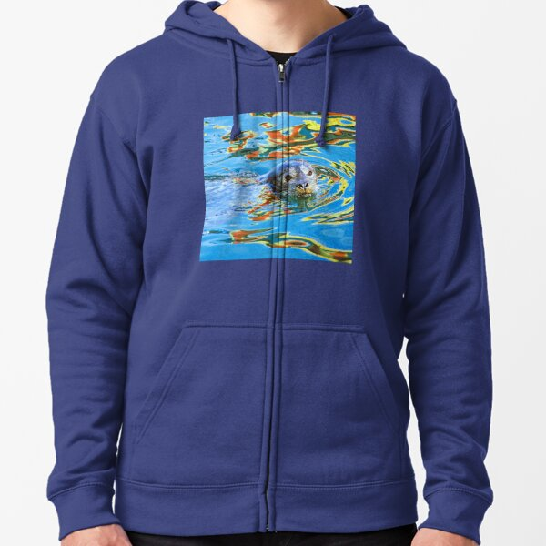 Harbor Seal in reflected color Zipped Hoodie