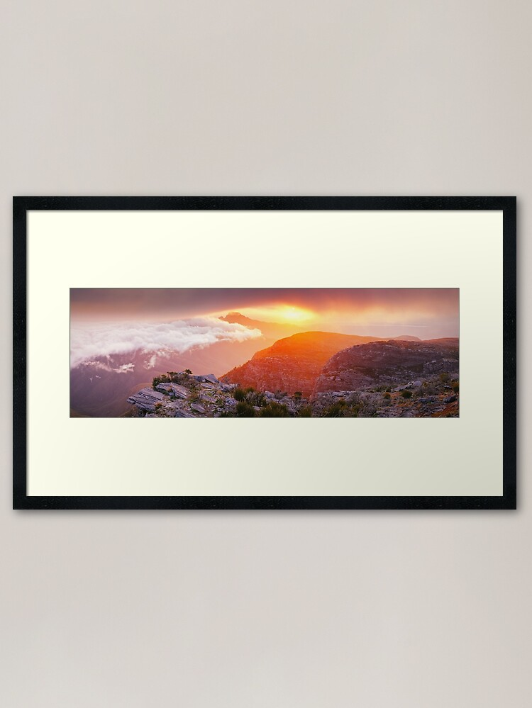Alternate view of Bluff Knoll Summit View Stirling Ranges, Western Australia Framed Art Print