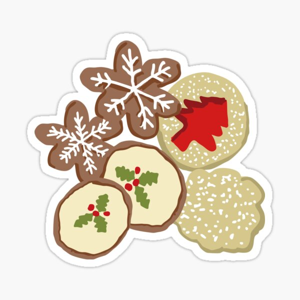 Decorated Christmas Cookies Sticker