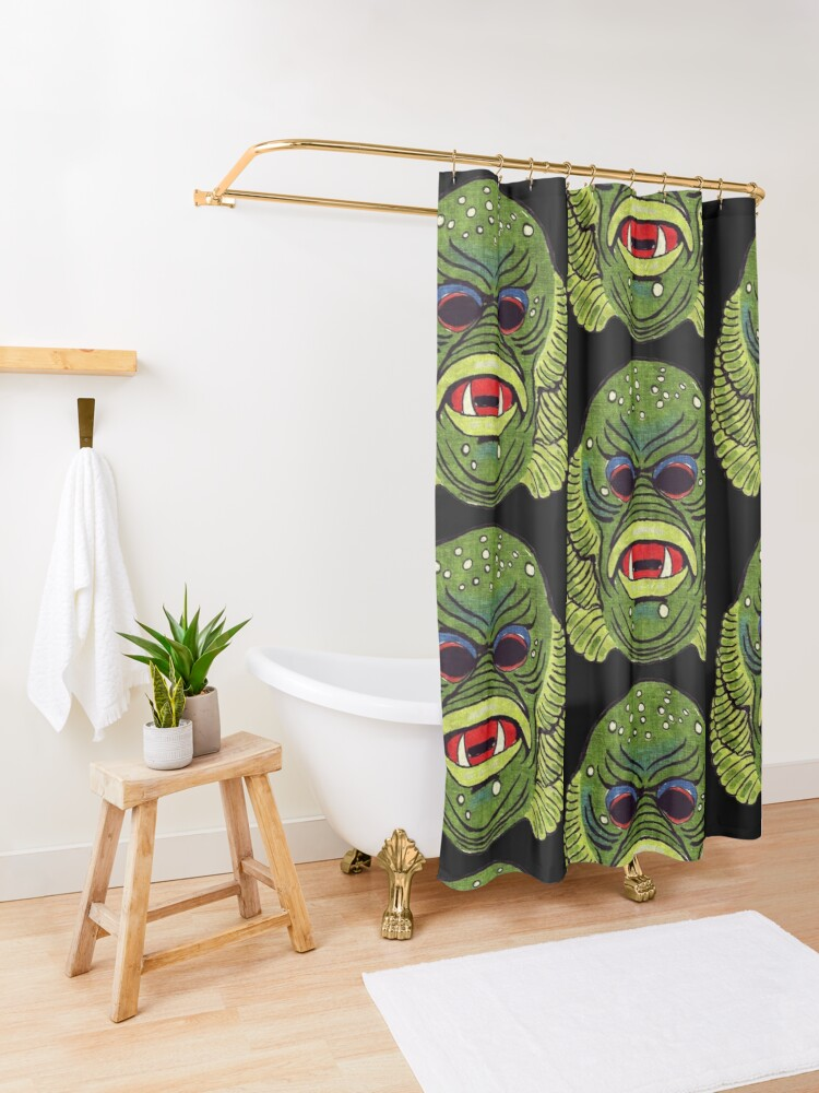 Alternate view of Creature from the Black Lagoon Shower Curtain