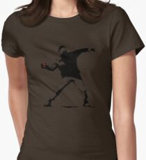 Pokeball Banksy Womens Fitted T-Shirt