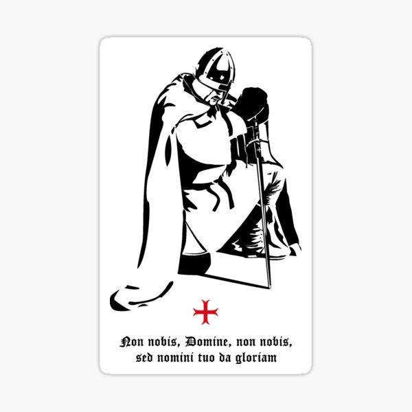 Chevalier templier priant ☩ Chevalier templier en prière Sticker