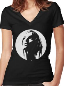 Mystery Girl Women's Fitted V-Neck T-Shirt