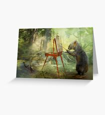 The Landscape Artist Greeting Card