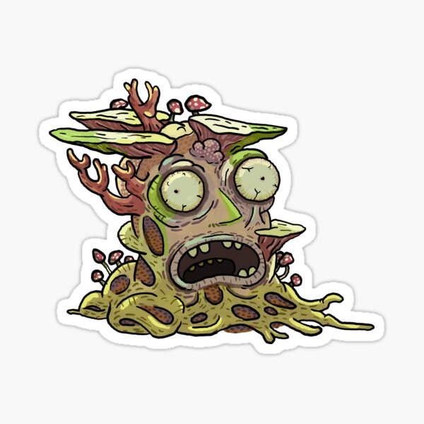Melting Microwave Head - Rick and Morty Sticker