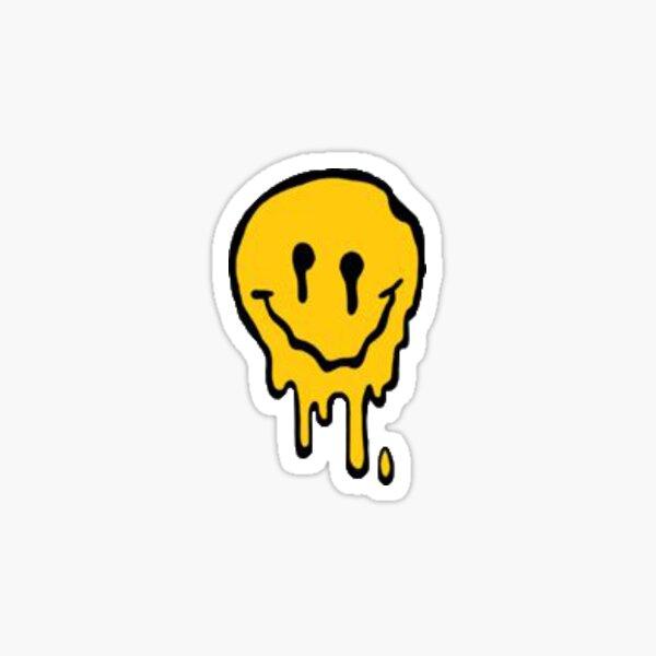 melting smiley Sticker