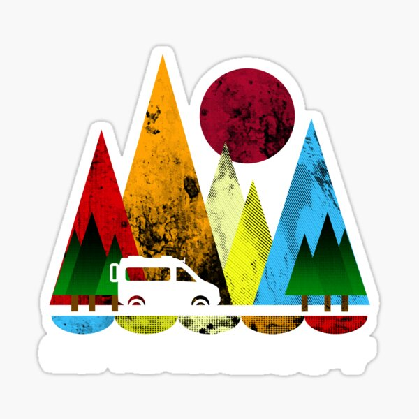 Moon and Mountains Sticker
