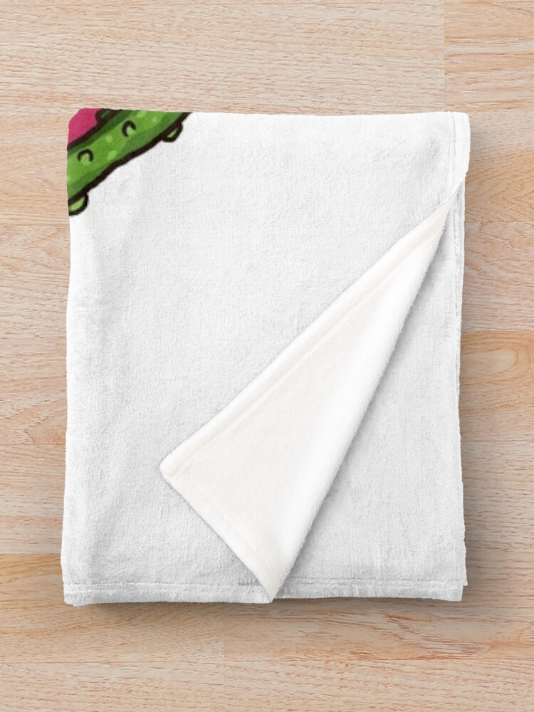 Alternate view of Pick Rick Badge Throw Blanket