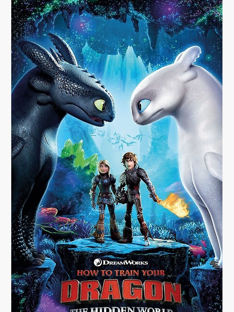 How To Train Your Dragon The Hidden World Poster Art Board Print By Tyupolasem Redbubble