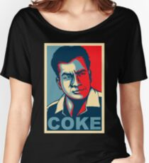 Coke - The Cause of and Cure to Hollywoods Problems. Women's Relaxed Fit T-Shirt
