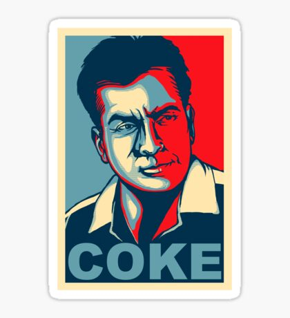 Coke - The Cause of and Cure to Hollywoods Problems. Sticker