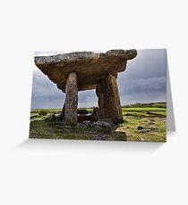 Dolmen, The Burren, County Clare, Ireland Greeting Card
