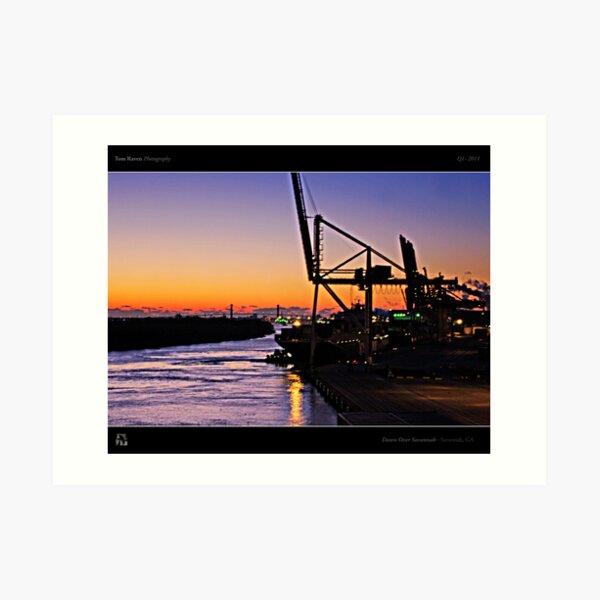Dawn Over Savannah Art Print