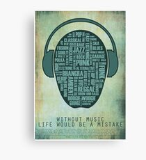 I love music redux Canvas Print