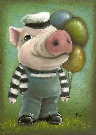 Jonathan the pig by tanyabond