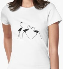 Three Herons Womens Fitted T-Shirt