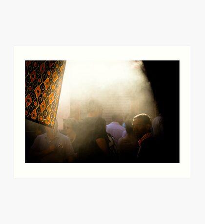 L'Arabe et la fumée Art Print