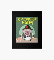 Socialist Farm Art Board Print