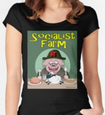 Socialist Farm Fitted Scoop T-Shirt