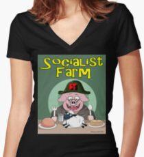 Socialist Farm Fitted V-Neck T-Shirt