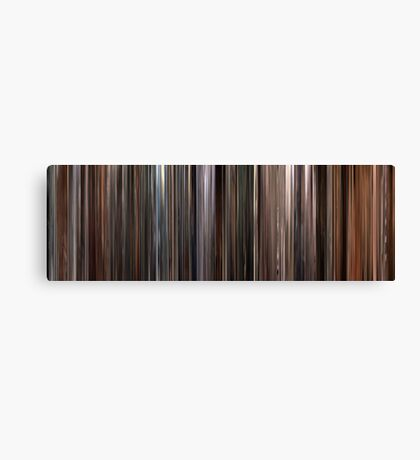 Moviebarcode: Three Colours: White (1994) Canvas Print