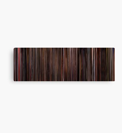 Moviebarcode: Three Colours: Red (1994) Canvas Print