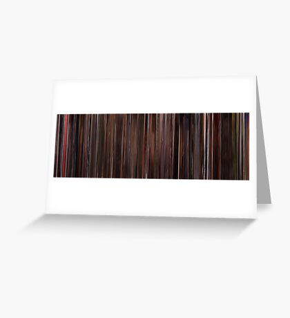 Moviebarcode: Three Colours: Red (1994) Greeting Card