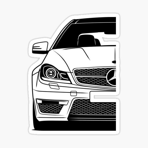 Mercedes C63 AMG Meilleur Shirt Design Sticker
