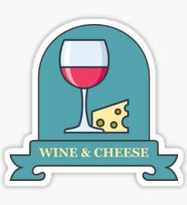 Wine And Cheese Sticker