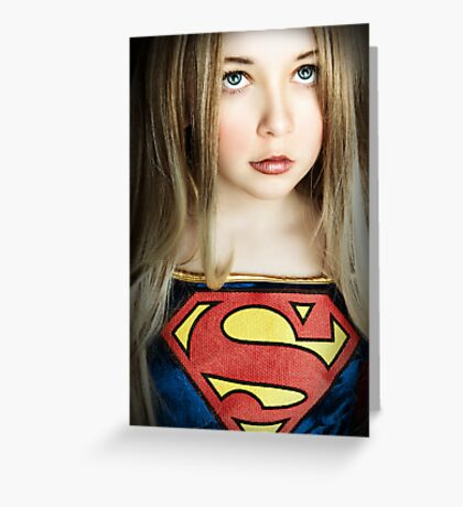 SUPER GIRL!!! Greeting Card