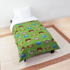 Fosters Home for Imaginary Friends - pixel pattern Comforter