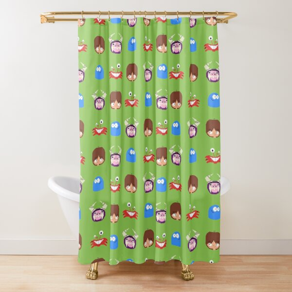 Fosters Home for Imaginary Friends - pixel pattern Shower Curtain