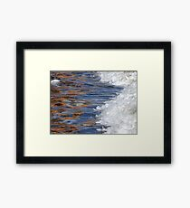 Water and color Framed Print