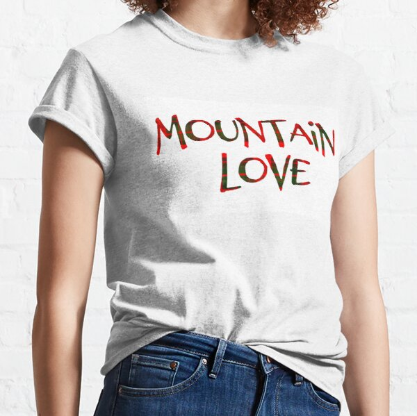 Mountain Love - Christmas Plaid Classic T-Shirt