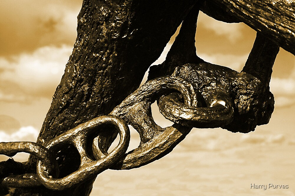 Rusty Chain, part of an anchor by Harry Purves