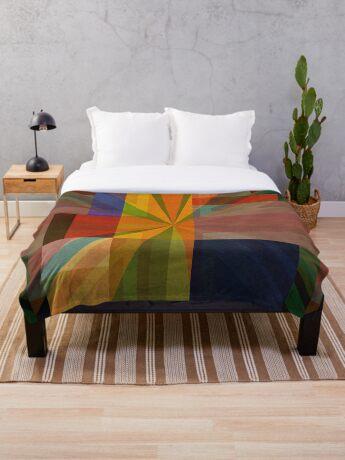 Union Squares Rainbow Nation FOUR Throw Blanket