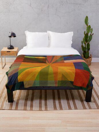 Union Squares Rainbow Nation TWO Throw Blanket