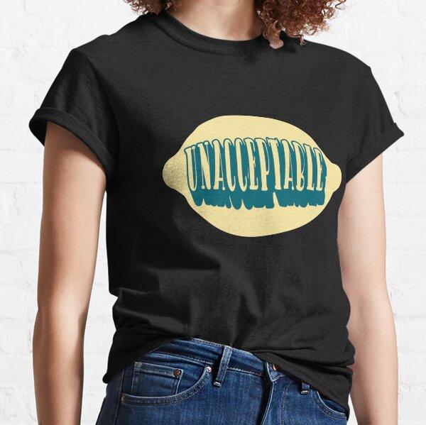 Unacceptable Lemongrab Lemon Grab Quote Adventure Time Fan Art Classic T-Shirt