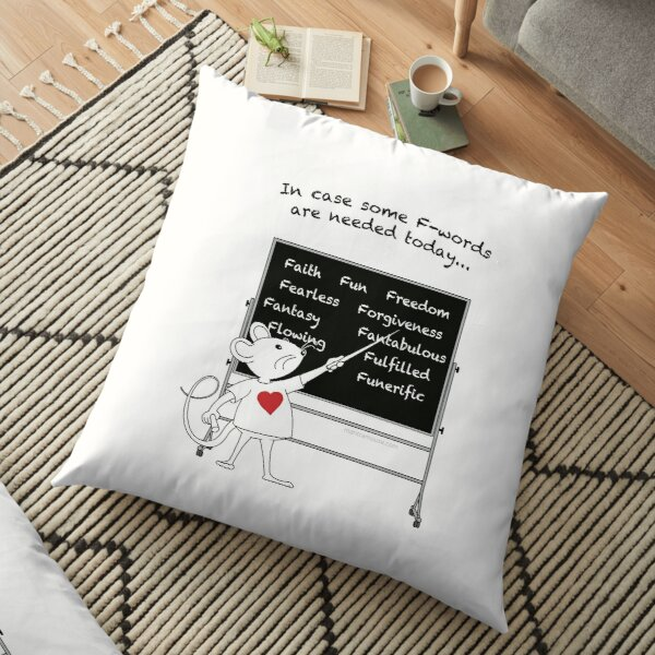 MantraMouse® Positive F-Words Cartoon Floor Pillow