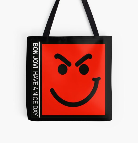 have a nice day bon jovi logo All Over Print Tote Bag