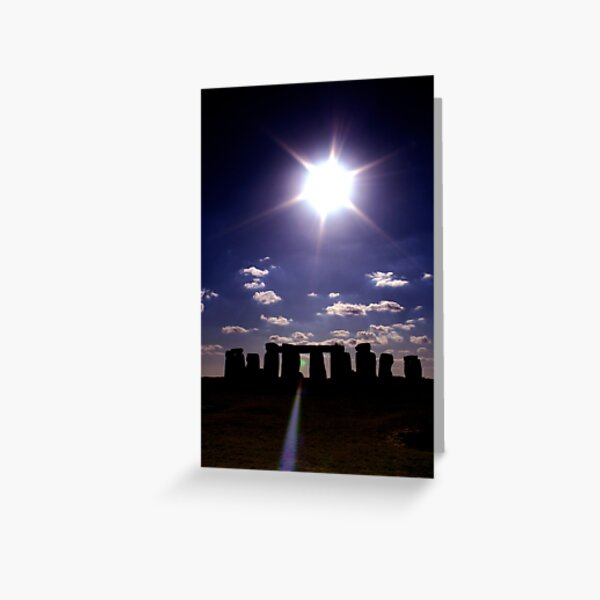 Stonehenge in the Midday Sun Greeting Card