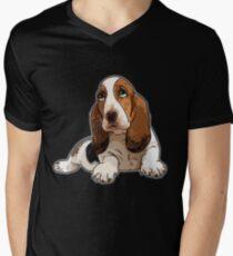 Basset Hound Men's V-Neck T-Shirt