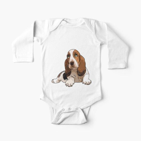 Basset Hound Long Sleeve Baby One-Piece