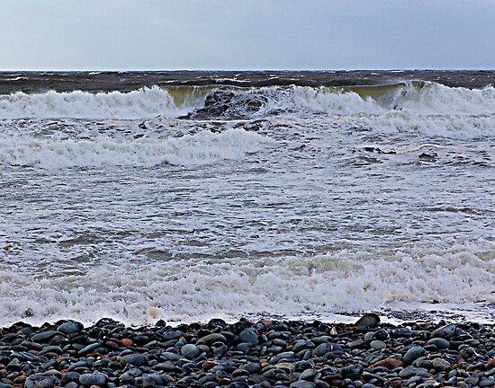 Surf On a Rocky Beach by Jann Ashworth