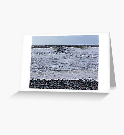 Surf On a Rocky Beach Greeting Card