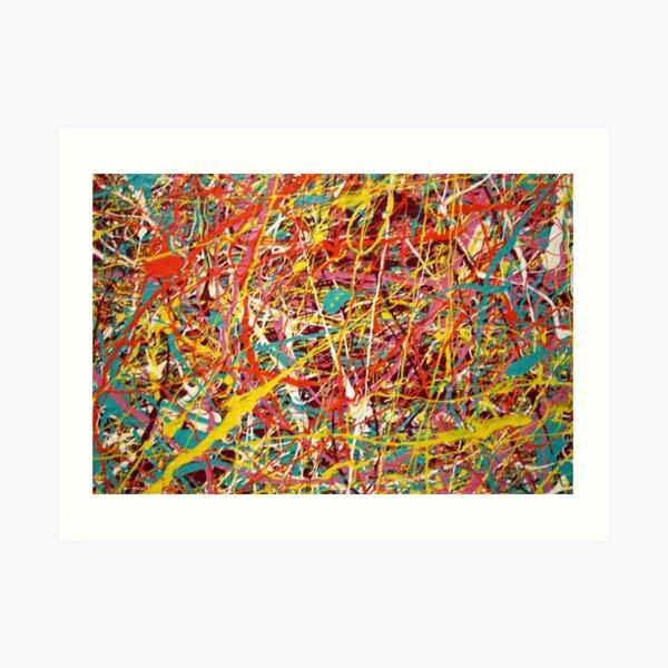 Pintura abstracta moderna de Jackson Pollock Arte original Lámina artística