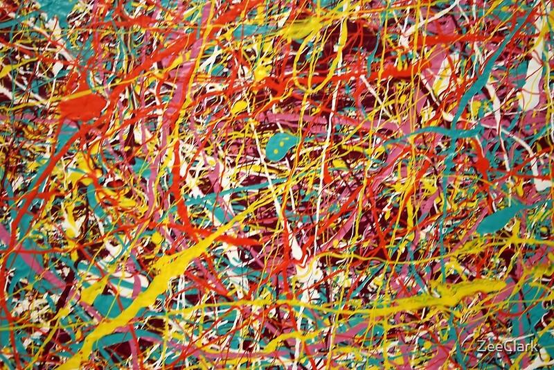 Modern abstract jackson pollock painting original art for Peinture mural original