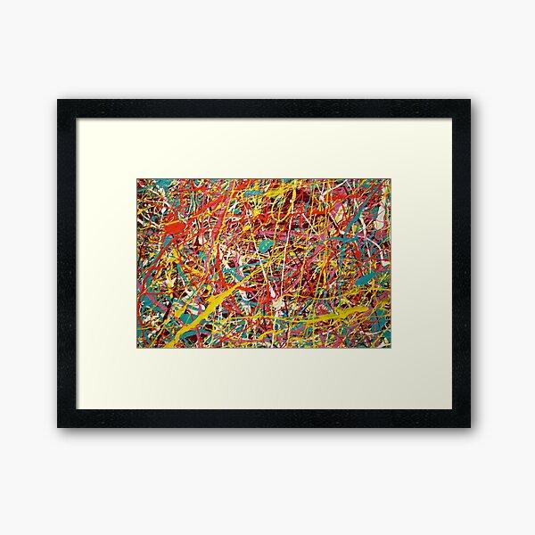 Modern Abstract Jackson Pollock Painting Original Art  Framed Art Print