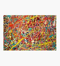 Modern Abstract Jackson Pollock Painting Original Art Titled: Constant Change Photographic Print