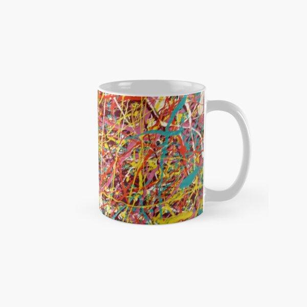 Modern Abstract Jackson Pollock Painting Original Art  Classic Mug
